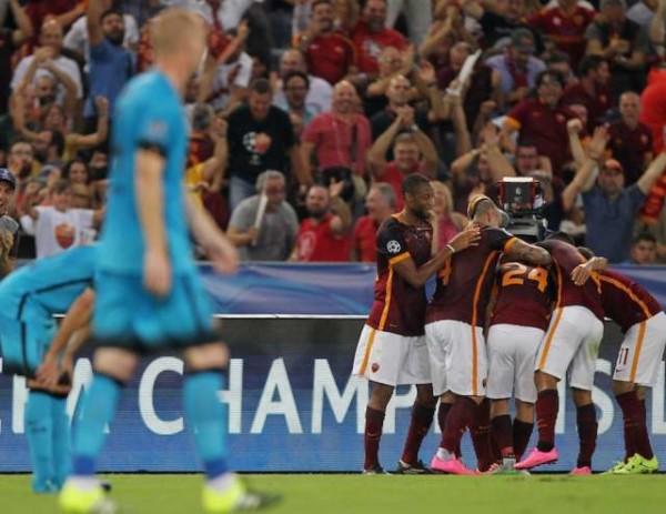 Champions League, Roma Barcellona 1-1: una magia di Florenzi risponde a Suarez