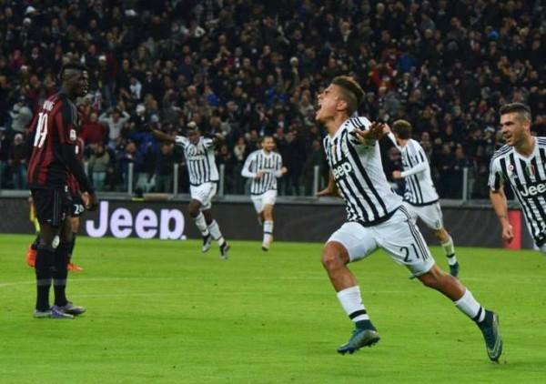 Juventus-Milan 1-0: decide Dybala, video highlights e gol (Serie A 2015-16)