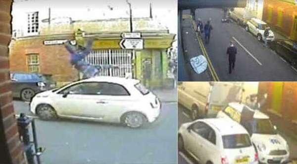 """Inghilterra, Fiat 500 investe uomo e fugge. Diffuso video shock: """"Aiutateci a trovarlo"""""""