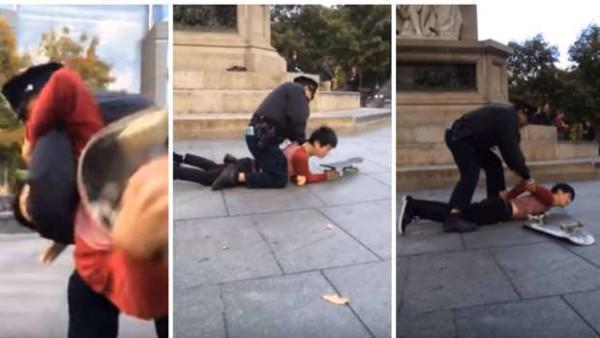 NYPD attesto skateboarder