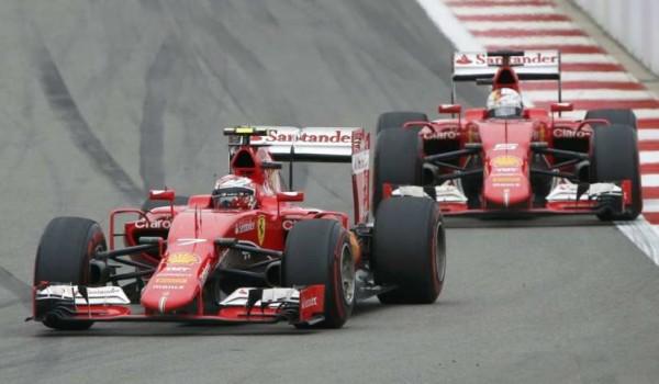 Sebastian Vettel e Kimi Raikkonen, Gp di Russia 2015