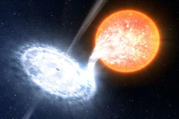 Stella grande quanto il Sole divorata da un buco nero. Evento rarissimo