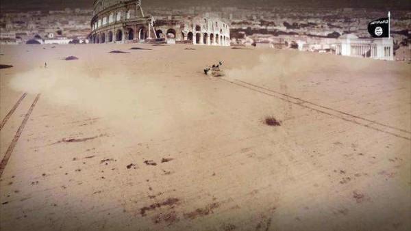 Isis, nuova minaccia all'Italia: in un video carri armati avanzano verso il Colosseo
