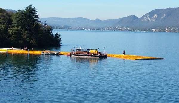 Camminare sull'acqua con Christo sul lago d'Iseo, progetto agibile dal 7 aprile