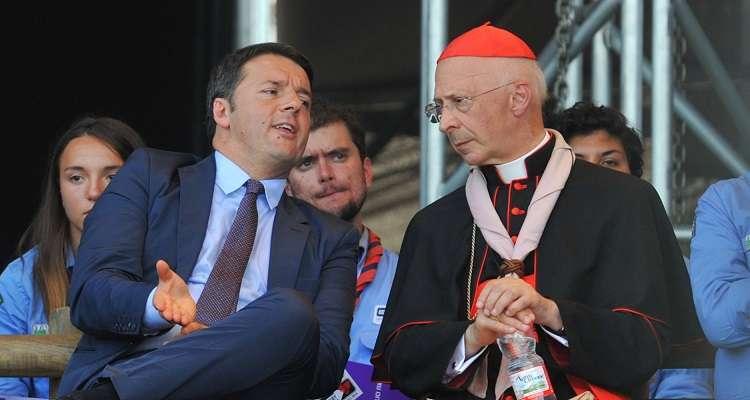 """Unioni civili, Renzi replica a Bagnasco: """"Voto segreto? Decide il Parlamento, non la Cei"""""""