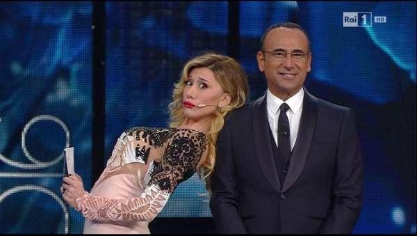 Sanremo 2016, Virginia Raffaele imita Belen con l'abito di Emma Marrone. Casualità?