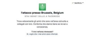 """Attentati a Bruxelles: """"Sto bene"""", lo dice Facebook con la funzione Safety Check"""