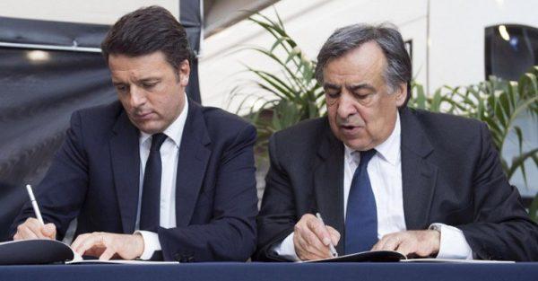 Renzi a Palermo firma il 'Patto per la città'