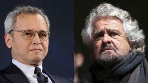 """Beppe Grillo: """"Giuria popolare per le bugie dei media"""". Mentana: """"Si trovi un avvocato"""""""
